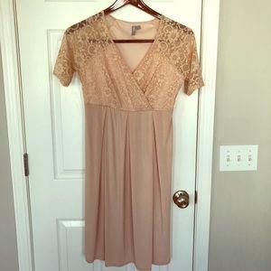 ASOS pink blush maternity dress.